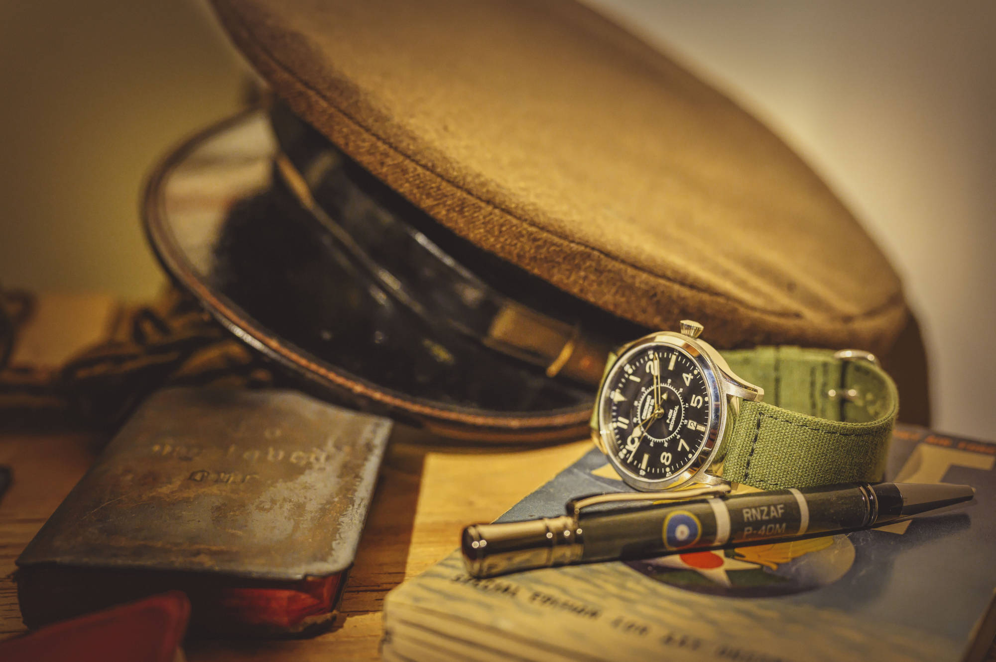 The P-40M Mechanical pilot watch by Build Your Own Watch