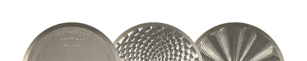 hand engraved rotor using a rose engine lathe